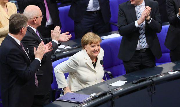 Angela Merkel unmittelbar nach der Verkündung des Abstimmungsergebnisses