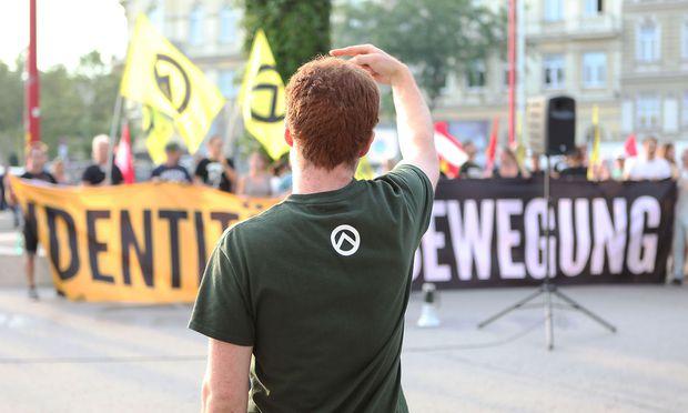 Eine Demonstration der Identitären in Wien.