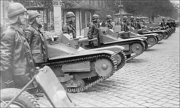 Fiat-Ansaldo CV-35 Tanketten in Wien 1935