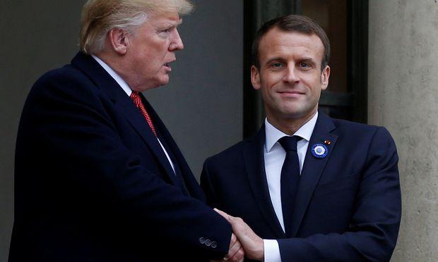 Trump mit Macron
