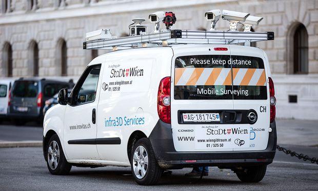 Vermessungsfahrzeug der Stadt Wien