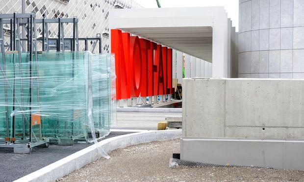 Archivbild von Der Krankenhaus-Baustelle vom vergangenen Februar