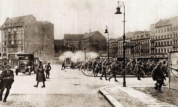 """Der """"Spartakusaufstand"""" in Berlin 1919."""