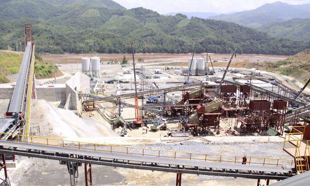 Die Baustelle ist einsatzbereit: Der Bau des Staudamms in Laos soll noch diese Woche beginnen.