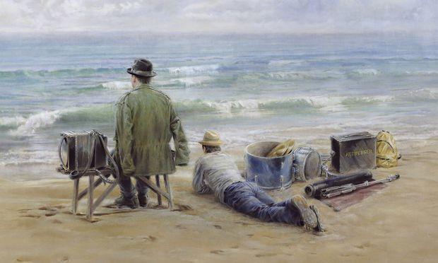 """""""Attwenger on the beach"""", gemalt vom Mühlviertler Künstler Thomas Paster."""