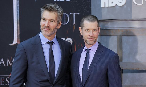 David Benioff and D.B. Weiss arrive for the premiere of the final season of ´Game of Thrones´ at Radio City Music Hall in New York