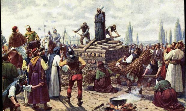 Verbrennung des Magisters Johannes Hus
