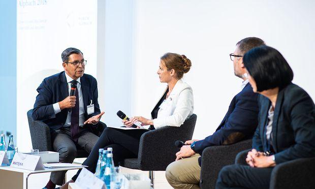 Alfred Autischer, Sabine Matejka, Michael Pilz und Christine Hohmann-Dennhardt