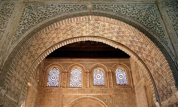 Islam und Europa, eine lange Geschichte: hier die mittelalterliche Alhambra in Granada, Spanien
