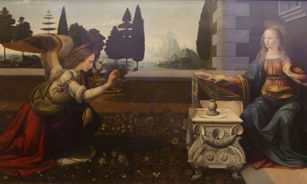 Leonardos Verkündigung wird von den Uffizien nicht an den Louvre verliehen.