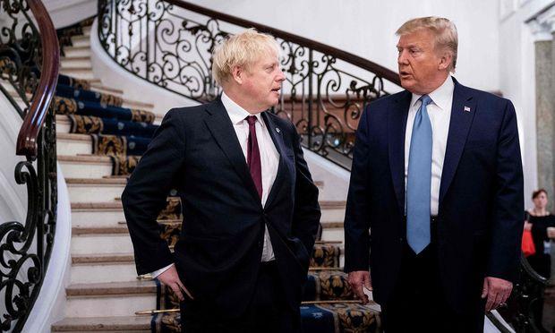 """Gleich nach dem Brexit wollen der britische Premier, Boris Johnson, und US-Präsident Donald Trump einen """"sehr großen"""" Handelsvertrag abschließen."""