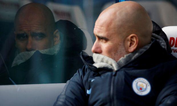 """""""Pep"""" Guardiola und Manchester City droht am Mittwoch die nächste Enttäuschung."""