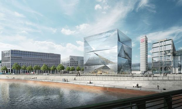 Bürogebäude cube Berlin am Hauptbahnhof