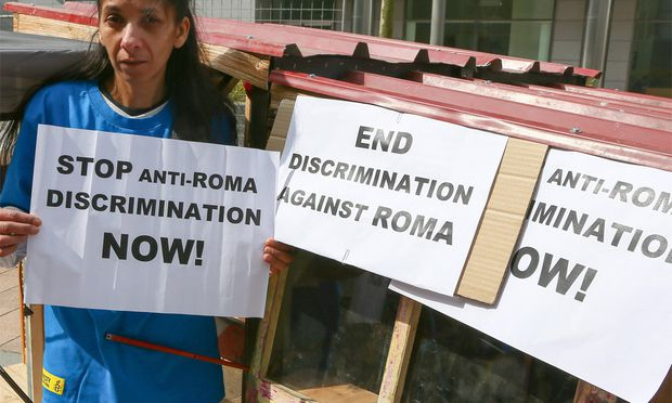 Protest gegen Diskriminierung von Roma