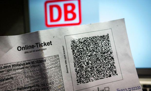 Deutsche Bahn Online Ticket Im Aztec Code Matrixcode des Tickets sind Informationen zu der ge