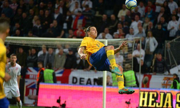 Fussball Vier IbrahimovicTore Schwedens