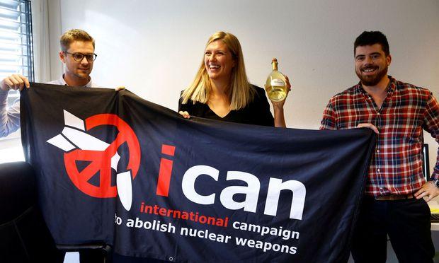 Beatrice Fihn, die Geschäftsführerin von Ican, hielt es zuerst für einen Scherz, als sie vom Nobelpreis erfuhr.
