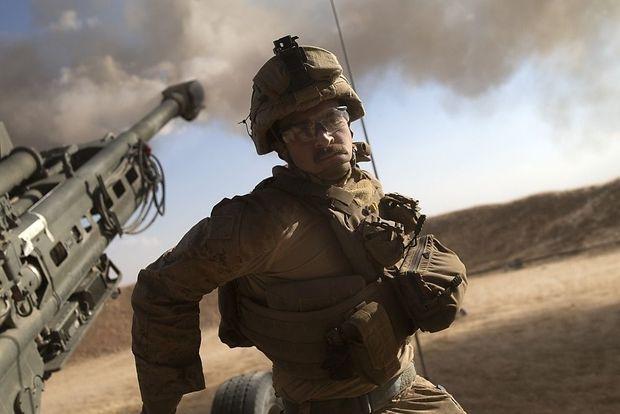 Artillerie der U.S. Marines im Einsatz in Nordsyrien