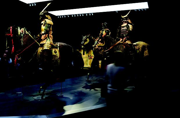 Die Pracht des alten japanischen Rittertums der Samurai-Krieger lebt wieder auf.