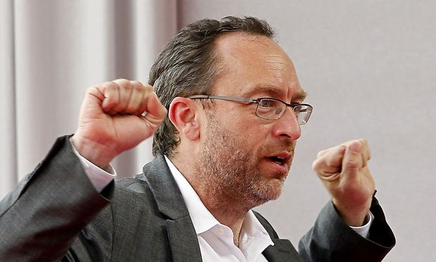Wikipedia founder Wales attends the French employers´ body MEDEF union summer forum on the campus of the HEC School of Management in Jouy-en-Josas,