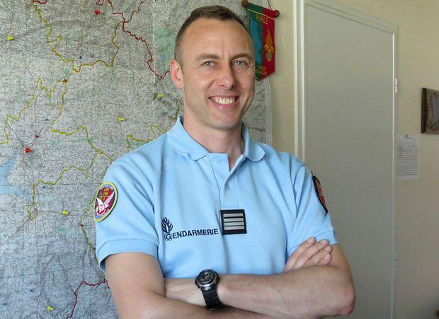 Arnaud Beltrame 2013 während seines Dienstes in der Normandie