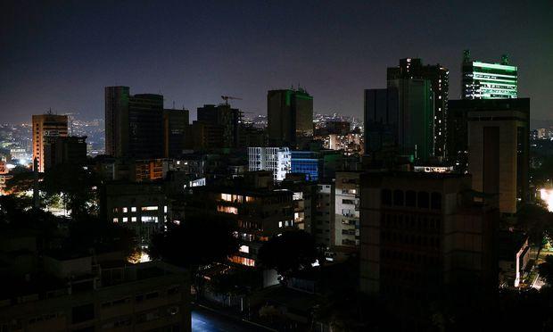 Blick auf das dunkle Caracas