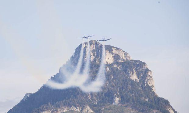Am Wochenende fand auch eine Flugshow statt