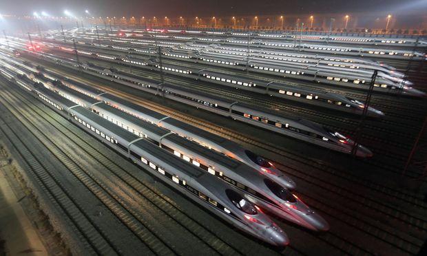 Hochgeschwindigkeitszuege China ndash voll