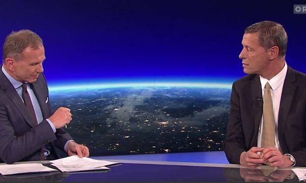 Armin Wolf und Christian Pilnacek in der ZiB2 vom 3. Oktober 2018