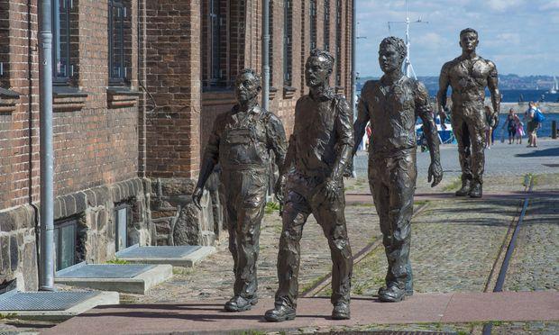 Helsingör, einst eine Stadt des Schiffbaus, setzte den Werftarbeitern ein Denkmal.