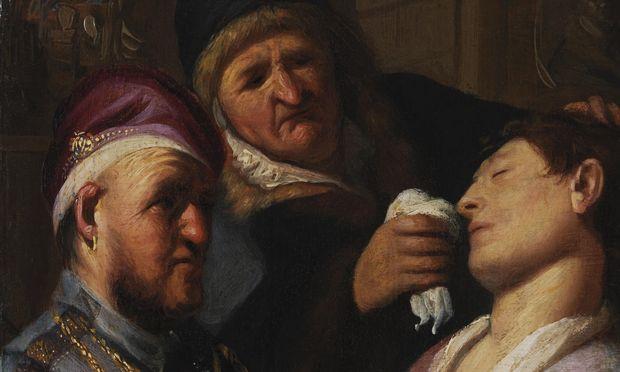 Der Macht des Geruchs – auch zum Erwecken Ohnmächtiger – widmete Rembrandt als 18-Jähriger eine seiner ersten Arbeiten.