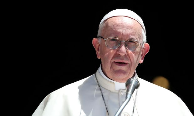 FILE PHOTO: Pope Francis delivers a speech after a meeting with Patriarchs of the churches of the Middle East at the St. Nicholas Basilica in Bari