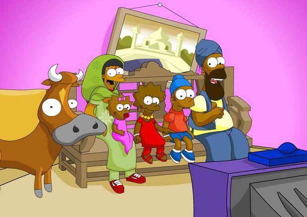 Ein bisserl Diversity und Multikulti schaden auch den Simpsons - hier also den Singhsons - nicht.