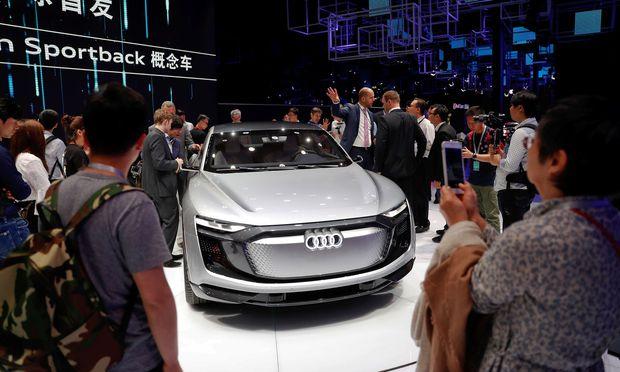 Audi e-tron Sportback bei der Shanghai Auto Show