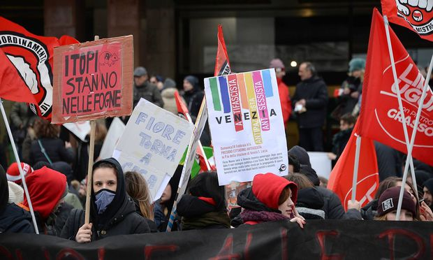 Demo gegen Forza Nuova