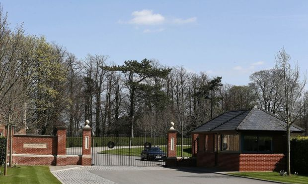The entrance of Godolphin stables is seen in Newmarket