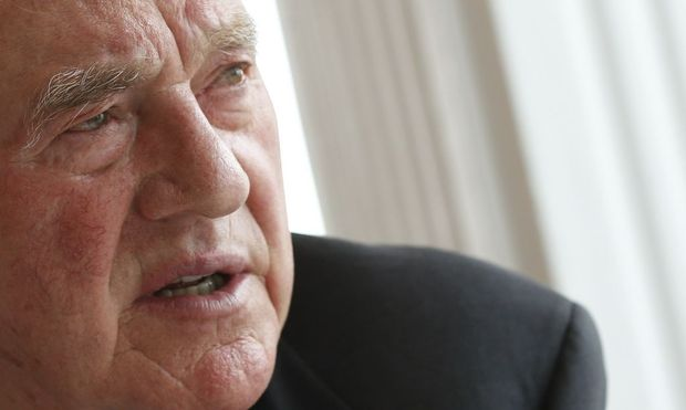 Austro-Canadian businessman and billionaire Stronach speaks during an interview with Reuters in the village of Oberwaltersdorf