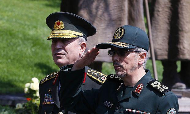 Derzeit weilt der iranische Militärchef, Mohammad Bagheri, in Ankara. / Bild: (c) APA/AFP/STR (STR)