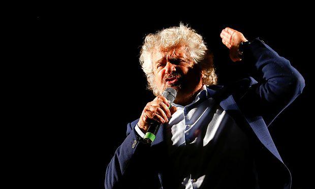 Beppe Grillo, Gründer der Fünf-Sterne-Bewegung und Gegner der Pläne von Premier Renzi.