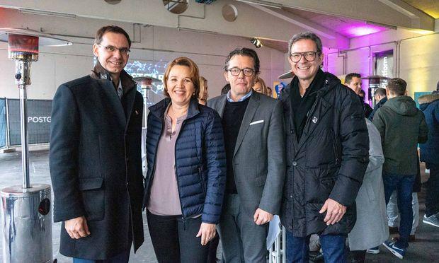 Markus Wallner, Andrea Kaufmann, Hans-Peter Metzler und Bernhard Ölz bei der Kick-off-Veranstaltung in Dornbirn.