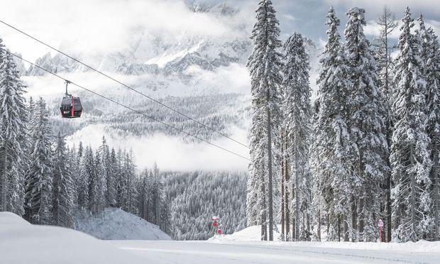 Die aktuelle Schneelage in Südtirol ist gut wie hier im Pustertal.