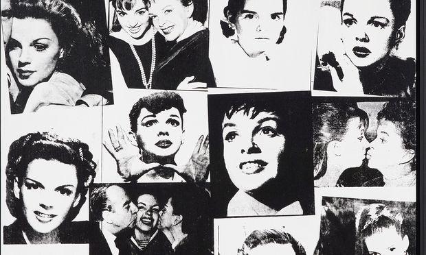 Judy Garland und Liza Minnelli sind die Stars, die Warhol hier zur Kollage zusammengefügt hat.