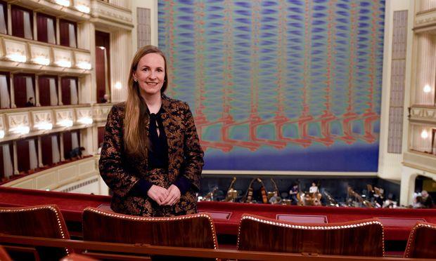Maria Großbauer in der Staatsoper, wo sie am Donnerstag erstmals Gastgeberin ist.