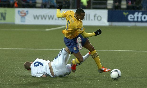 Knapper Sieg der Schweden in Torshavn