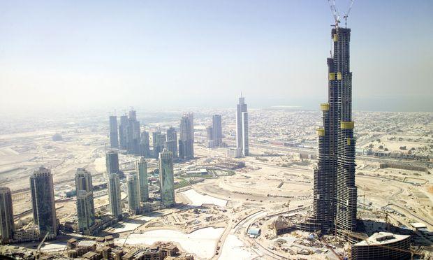 Der höchste Turm der Welt, der Burj Khalifa in Dubai, wurde mit Doka-Schalungen aus Österreich gebaut. Die Technik wird ständig weiter verbessert.