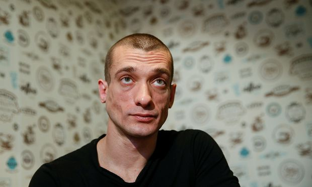 Russian artist Pavlensky gives interview in Kiev