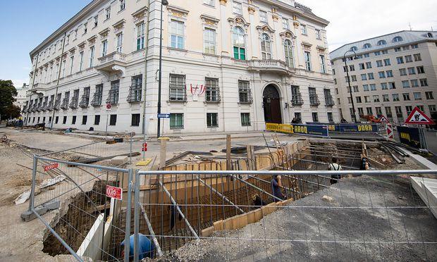 Baustelle vor Bundeskanzleramt