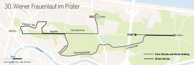 Die Strecke des Frauenlaufs 2017.