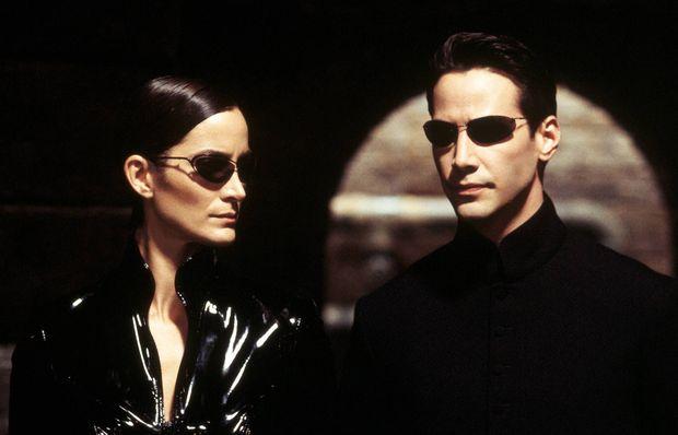 Trinity (Carrie-Anne Moss) und Neo (Keanu Reeves) in 'Matrix - Reloaded'