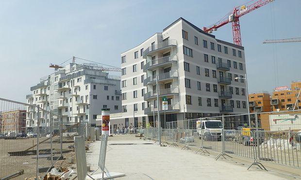 Dier ersten 18 Wohnungen in Aspern wurden übergeben.